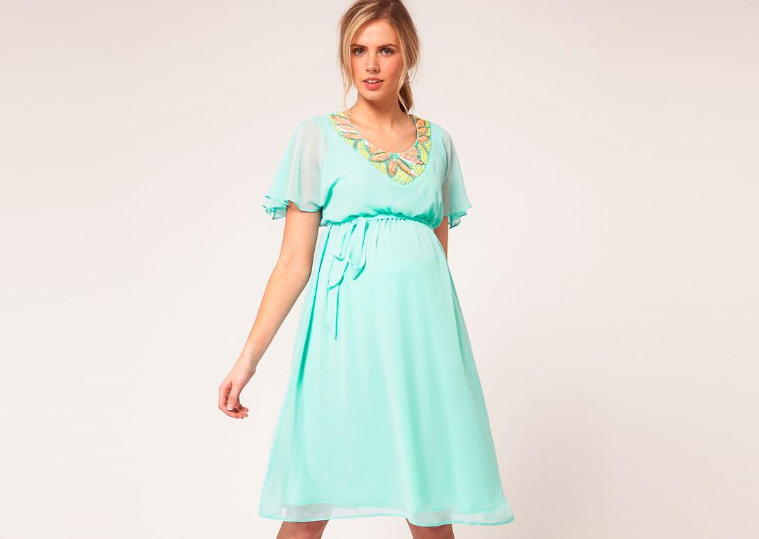 Как выбрать платье на выпускной для беременной