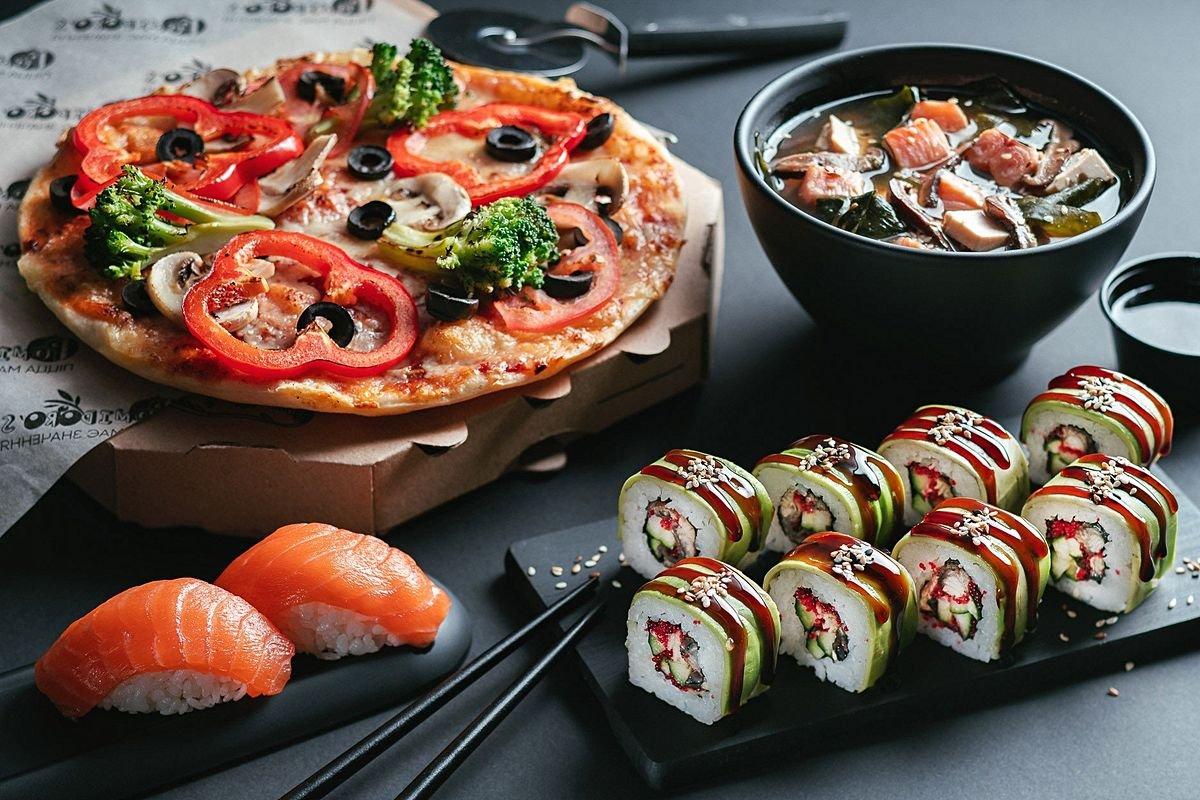 Доставка суши и пиццу на дом